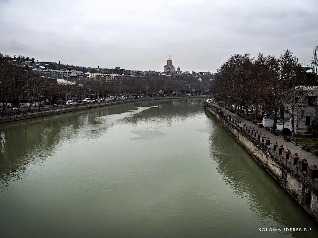 Река Кура Тбилиси Грузия