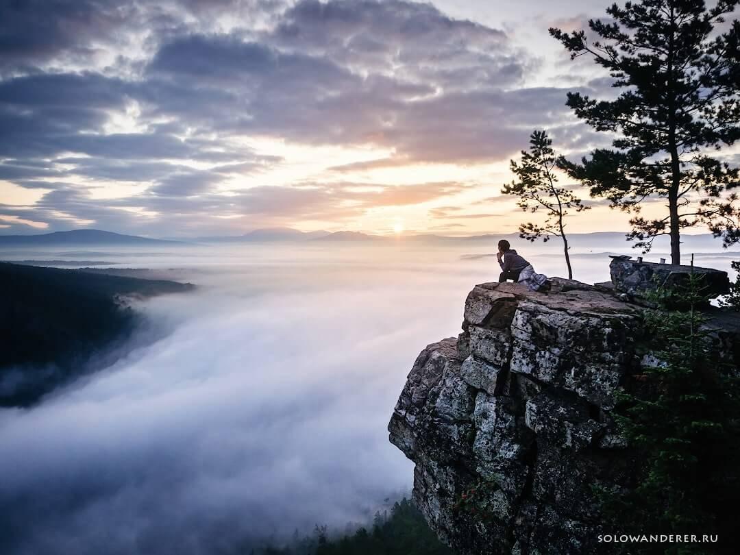 Восход солнца гора айгир
